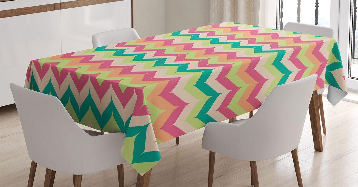 Скатерть Magic Lady, прямоугольная, цвет: розовый, салатовый, оранжевый, 120 х 145 см. tc_17183_120x145tc-17183-120x145Оригинальная фотоскатерть от Magic Lady украсит ваш дом. Изделие выполнено из высококачественного сатена (полиэстер 100%). При изготовлении используются специальные гипоаллергенные чернила для прямой печати по ткани, безопасные для человека и животных. Экологичность продукции Magic Lady и безопасность для окружающей среды подтверждены сертификатом Oeko-Tex Standard 100. Внимание! При нанесении сублимационной печати на ткань технологическим методом при температуре 240 С, возможно отклонение полученных размеров (указанных на этикетке и сайте) от стандартных на + - 3-5 см. Мы стараемся максимально точно передать цвета изделия на наших фотографиях, однако искажения неизбежны и фактический цвет изделия может отличаться от воспринимаемого по фото.