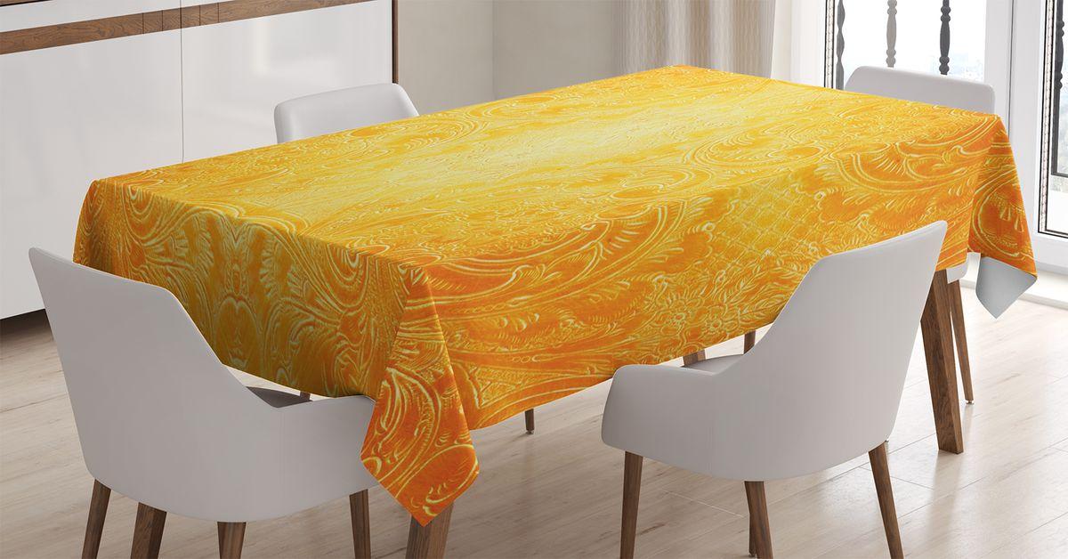 Скатерть Magic Lady, прямоугольная, цвет: оранжевый, желтый, 120 х 145 см. tc_17407_120x145tc-17407-120x145Оригинальная фотоскатерть от Magic Lady украсит ваш дом. Изделие выполнено из высококачественного сатена (полиэстер 100%). При изготовлении используются специальные гипоаллергенные чернила для прямой печати по ткани, безопасные для человека и животных. Экологичность продукции Magic Lady и безопасность для окружающей среды подтверждены сертификатом Oeko-Tex Standard 100. Внимание! При нанесении сублимационной печати на ткань технологическим методом при температуре 240 С, возможно отклонение полученных размеров (указанных на этикетке и сайте) от стандартных на + - 3-5 см. Мы стараемся максимально точно передать цвета изделия на наших фотографиях, однако искажения неизбежны и фактический цвет изделия может отличаться от воспринимаемого по фото.