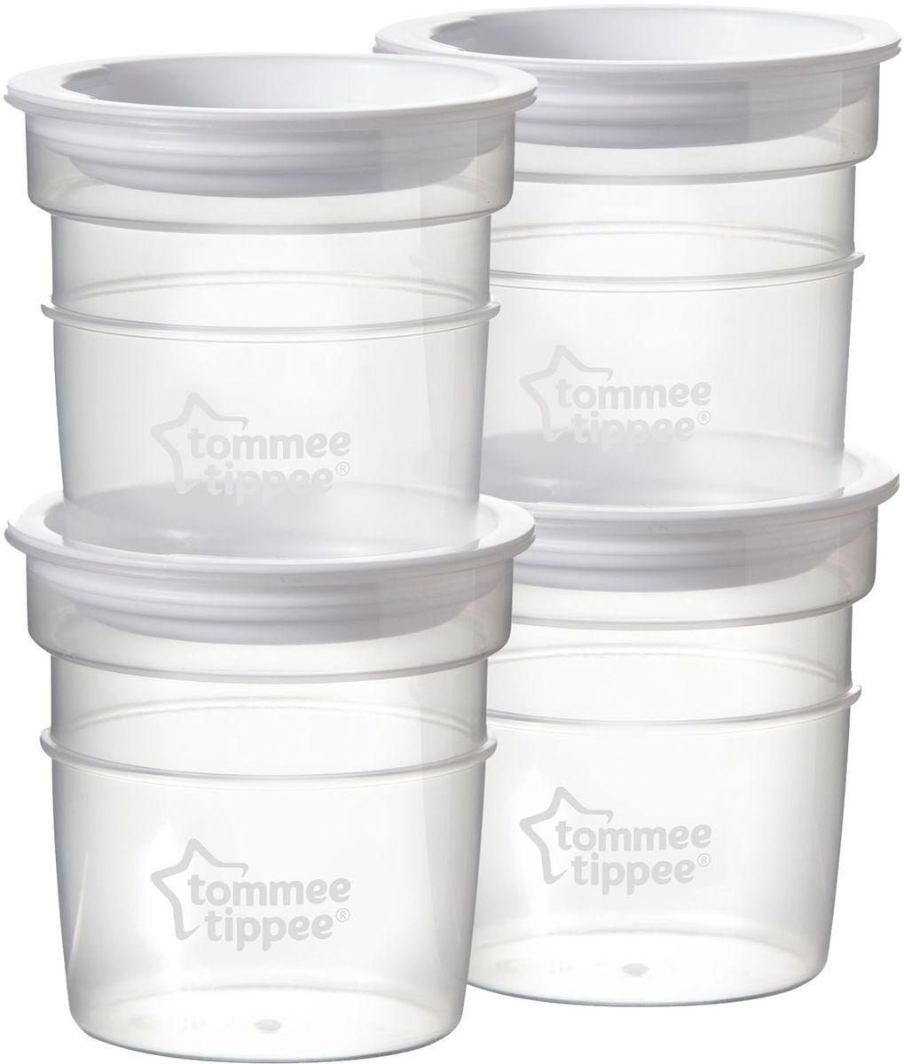 Tommee Tippee контейнеры для молока 4 шт. -  Молокоотсосы