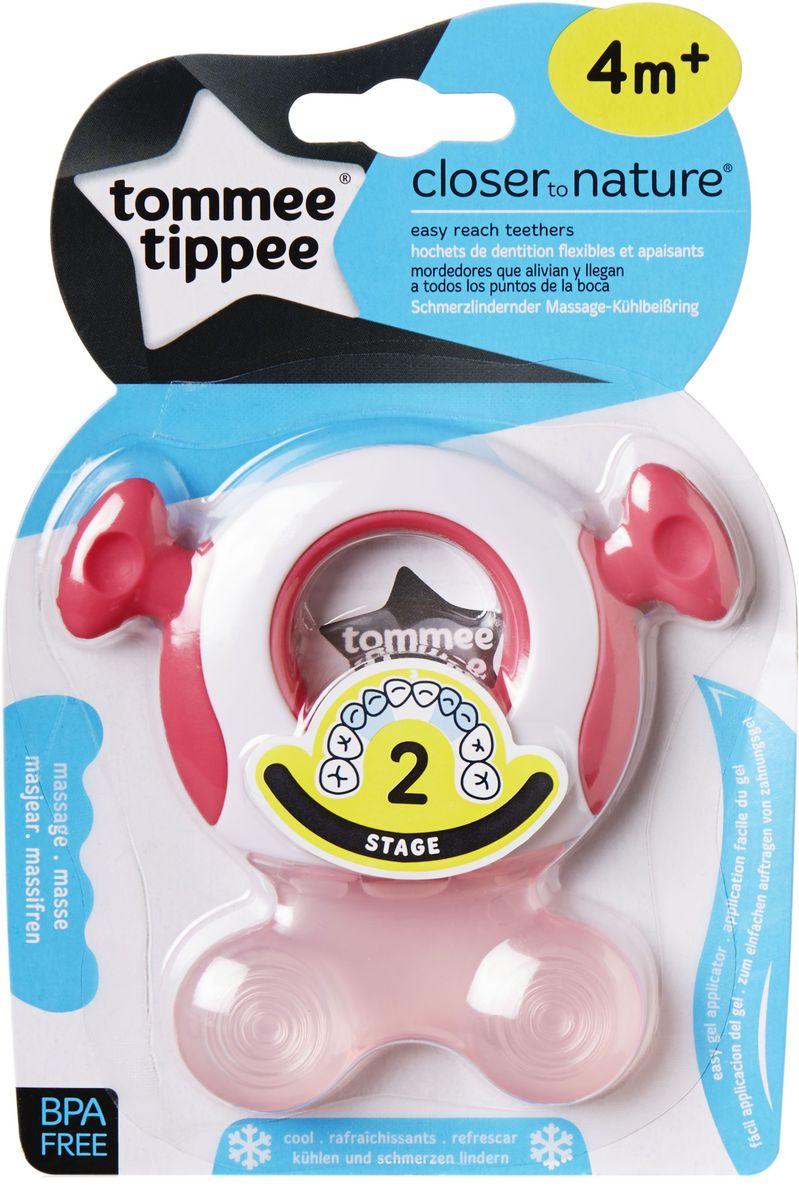 Tommee Tippee Прорезыватель охлаждающий Стадия 2 цвет розовый