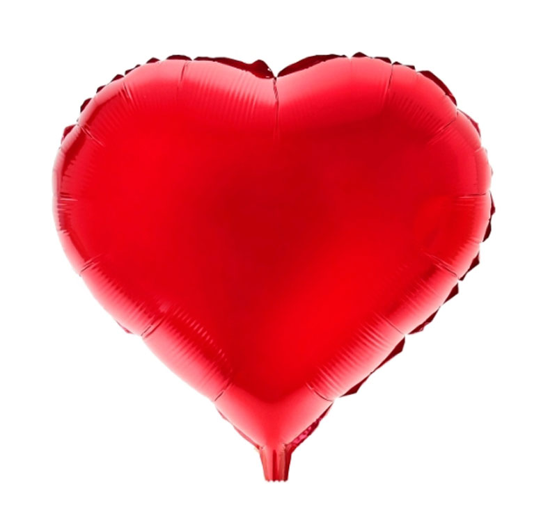Sima-land Воздушный шарик Сердце 18 цвет красный