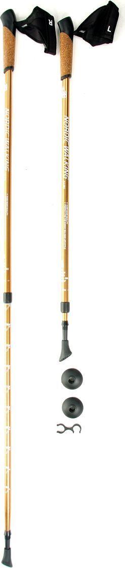 Палки для скандинавской ходьбы Kaiser Sport  Nordic Walking , телескопические, цвет: золотистый, 2 шт - Скандинавская ходьба