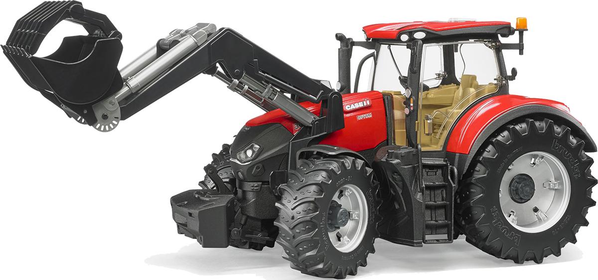 Bruder Трактор Case IH Optum 300 CVX с погрузчиком куплю тракторные прицепы 2птс 4 5 тн