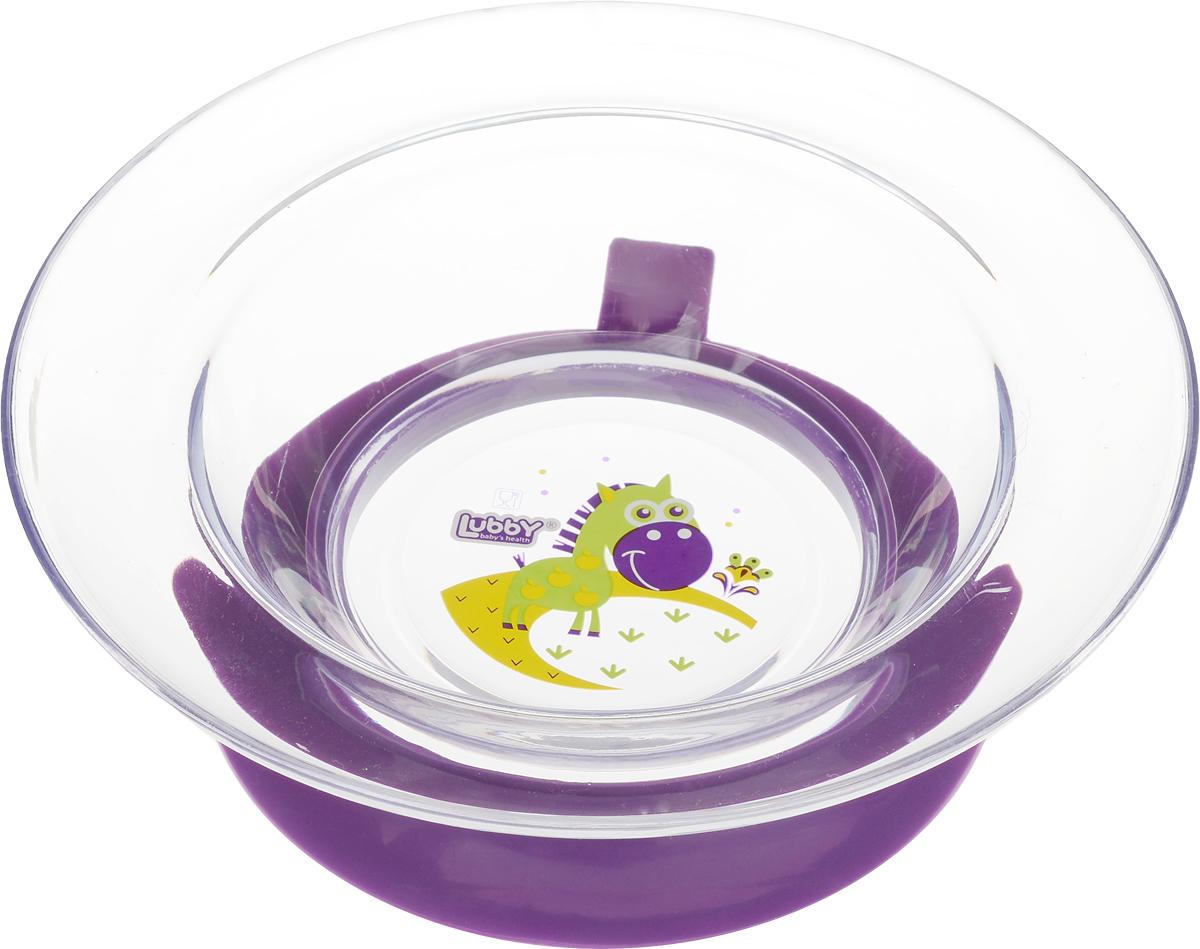 Lubby Тарелка с присоской Русские мотивы от 6 месяцев цвет фиолетовый13652_фиолетовый , конь в яблокахТарелка на присоске Lubby Русские мотивы для кормления незаменима в период, когда ваш малыш учится есть самостоятельно. Тарелочка не скользит по столу благодаря присоске, она надежно фиксирует положение тарелки на столе или любой другой гладкой поверхности. При необходимости тарелка легко снимается взрослым. Благодаря высоким бортикам, пища дольше остается теплой.Яркий дизайн тарелочки превратит процесс кормления в увлекательную игру.Перед первым использованием и после каждого применения мойте изделия в теплой воде с мылом, отделив все части тарелки. Можно мыть в посудомоечной машине (предварительно сняв присоску).