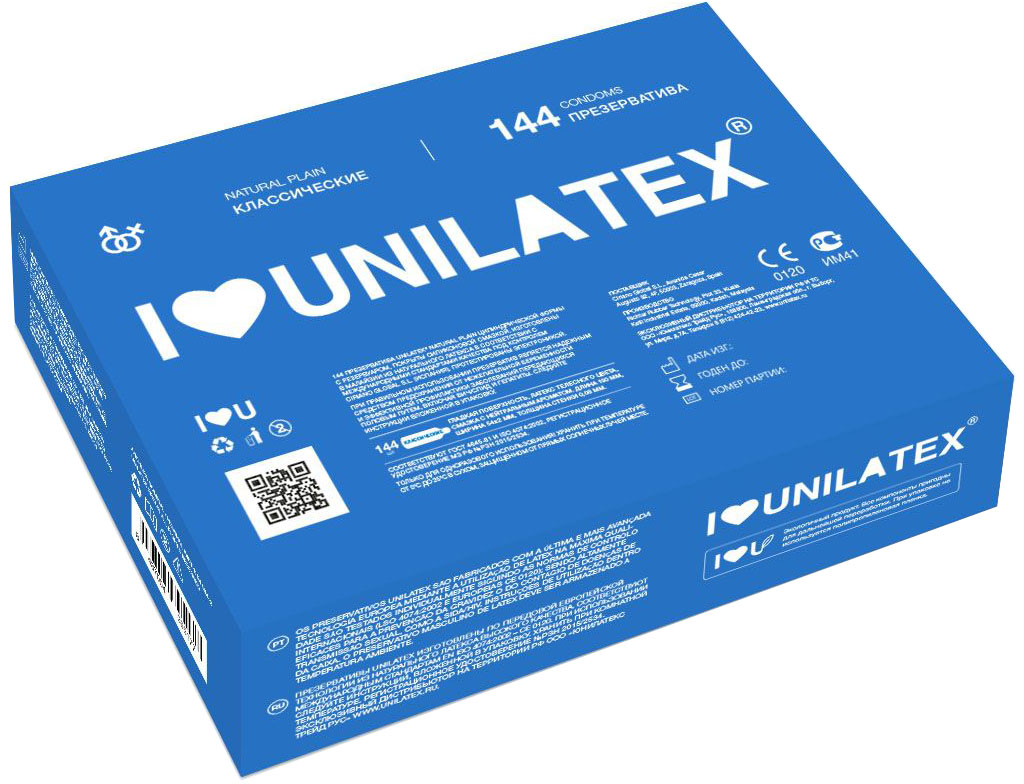 Презервативы Unilatex Natural Plain, 144 шт помпа с вибратором груша наверху