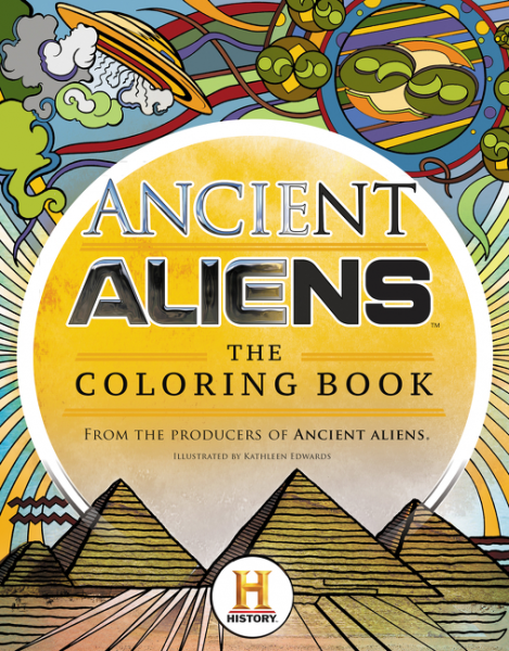 Ancient Aliens - The Coloring Book natives and aliens