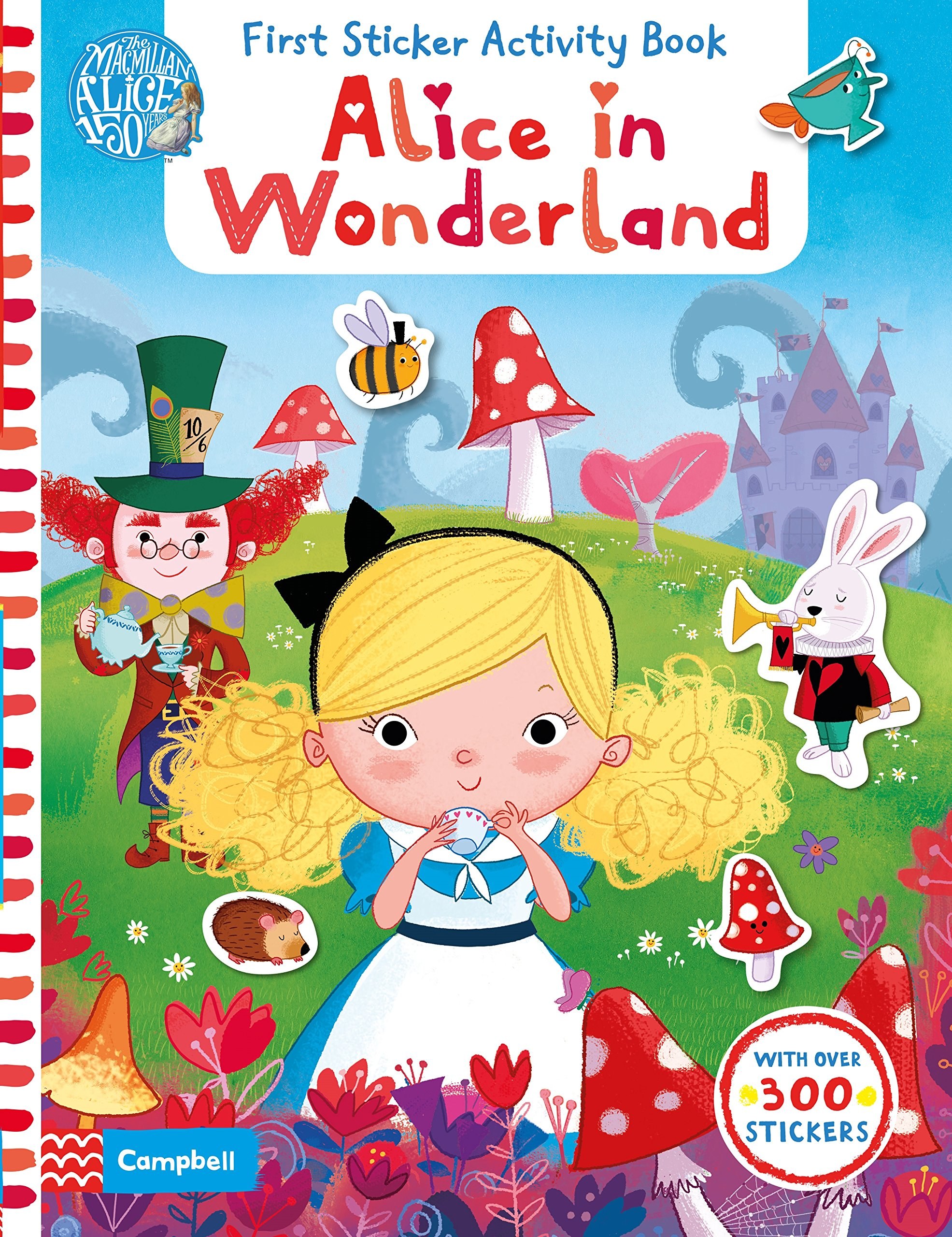 Alice in Wonderland: First Sticker Activity Book first sticker activity for boys