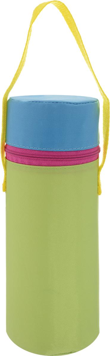 Lubby Термоконтейнер для бутылочки Твердый цвет синий желтый салатовый