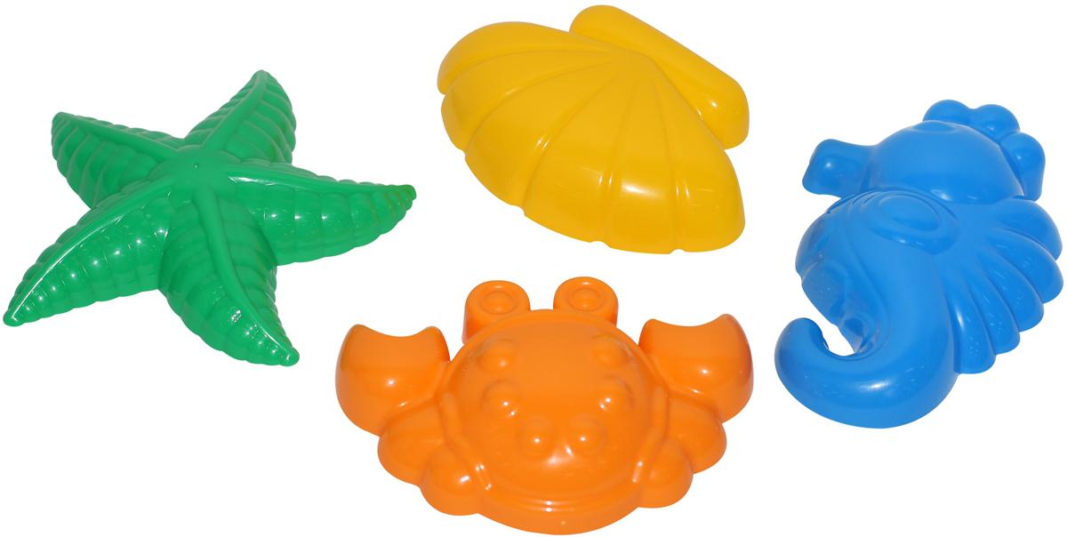 Полесье Игрушка для песочницы Формочки 4 шт 53831 полесье набор для песочницы 469