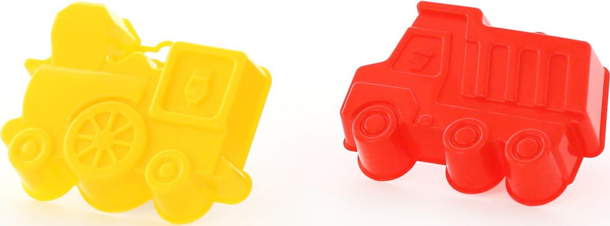Полесье Игрушка для песочницы Формочки Самосвал + Паровоз 2 шт полесье логика паровоз 6189 полесье