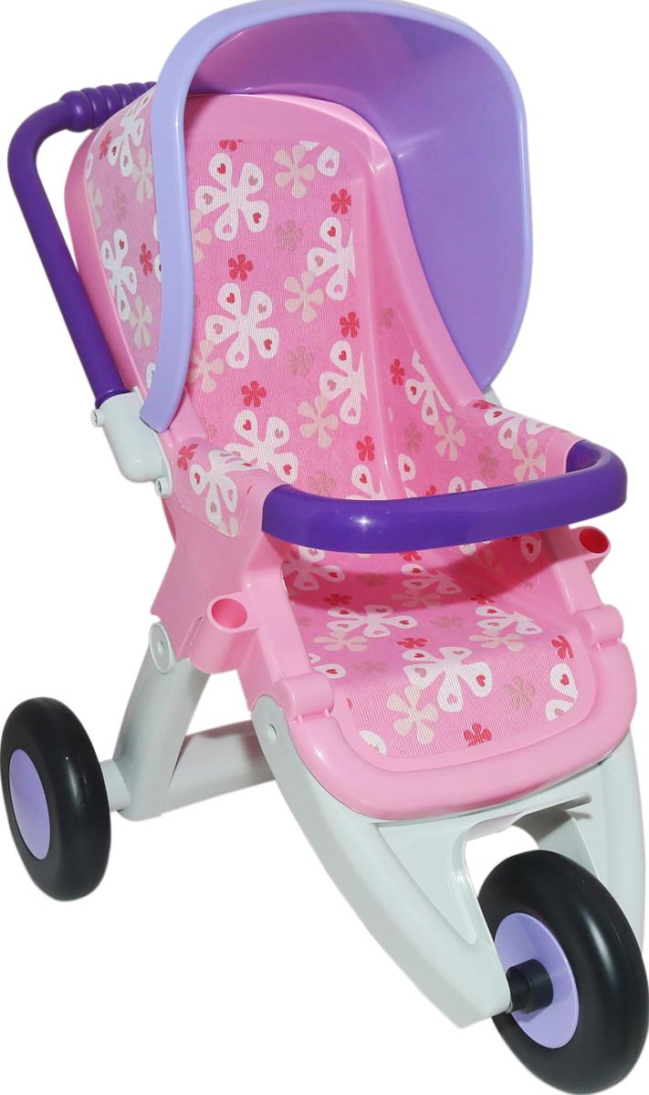 Полесье Коляска для кукол прогулочная №2 трехколесная teddy коляска 2 в 1 giovani цвет серый
