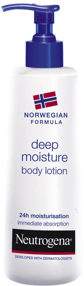 Молочко для тела Neutrogena Глубокое увлажнение, для сухой кожи, 250 мл64243/76499Молочко для тела Neutrogena Глубокое увлажнение - обеспечивает мягкость и гладкость, увлажнение и защиту кожи, гарантирует увлажнение даже самой сухой кожи в течение 24 часов.Активная формула с глицерином, пантенолом и витамином Е проникает вглубь эпидермиса, благодаря чему даже обезвоженная кожа чувствует себя комфортно.Клинически доказано, что благодаря своей уникальной формуле это молочко, в отличие от других средств, проникает до 10 слоя эпидермиса. Нежирная и легкая, быстро впитывающаяся текстура мгновенно проникает в кожу, не оставляя жирной пленки и следов на одежде.В состав молочка входят вода, глицерин, помогающий удерживать в коже влагу, пантенол, увлажняющий эпидермис, повышающий его эластичность, а также витамин Е, которой замедляет процессы старения и защищает от вредного влияния окружающей среды. Характеристики:Объем: 250 мл. Производитель: Греция. Товар сертифицирован.