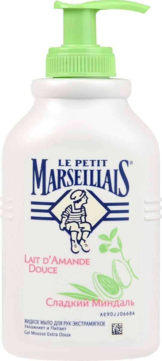 Le Petit Marseillais Жидкое мыло для рук Сладкий миндаль, 300 мл030342504Жидкое мыло для рук Le Petit Marseillais Сладкий миндаль увлажняет и питает. Мыло обладает ярким приятным ароматом, мягко очищает и увлажняет кожу. Образует густую пену, легко смывается. Характеристики:Объем: 300 мл. Артикул: 030342504. Производитель: Франция. Товар сертифицирован.