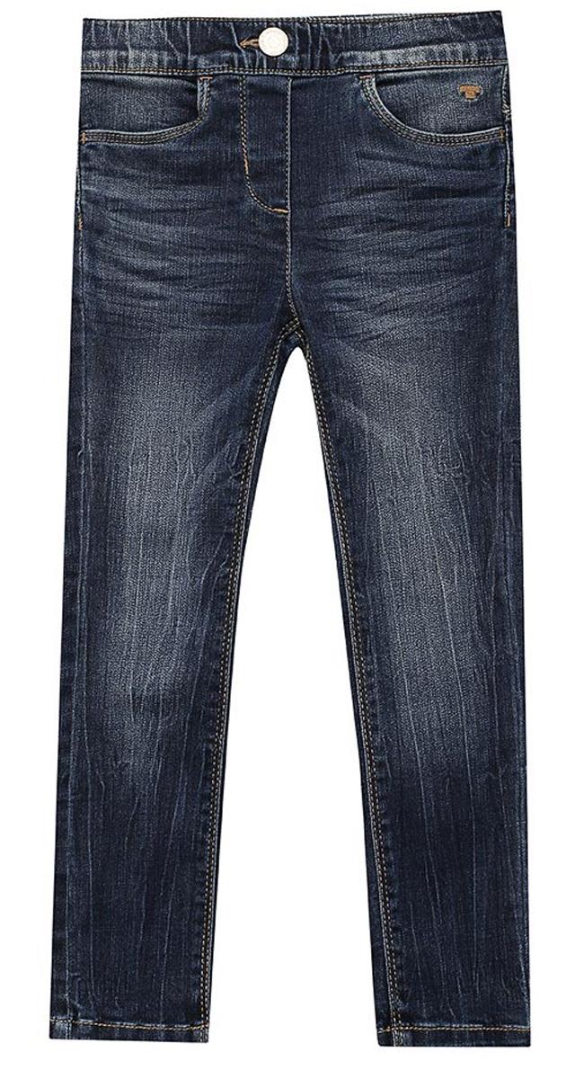 Джинсы для девочки Tom Tailor Treggings, цвет: синий. 6205782.09.81. Размер 1046205782.09.81Детские джинсы для девочки Tom Tailor с эффектом потертости ткани и перманентными складками. Модель зауженного кроя и высокой посадки в поясе застегивается на пуговицу, имеются ширинка на молнии и шлевки для ремня. Джинсыспереди дополнены двумя втачными карманами, сзади – двумя накладными.