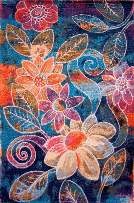 """Яркий ковер Oriental Weavers """"Санлайт"""" выполнен из текстиля, полиэстера, полипропилена и латекса. Изделие долго прослужит в вашем доме, добавляя тепло и уют, а также внесет неповторимый колорит в интерьер любой комнаты. Такой коврик отлично подойдет к вашему интерьеру."""