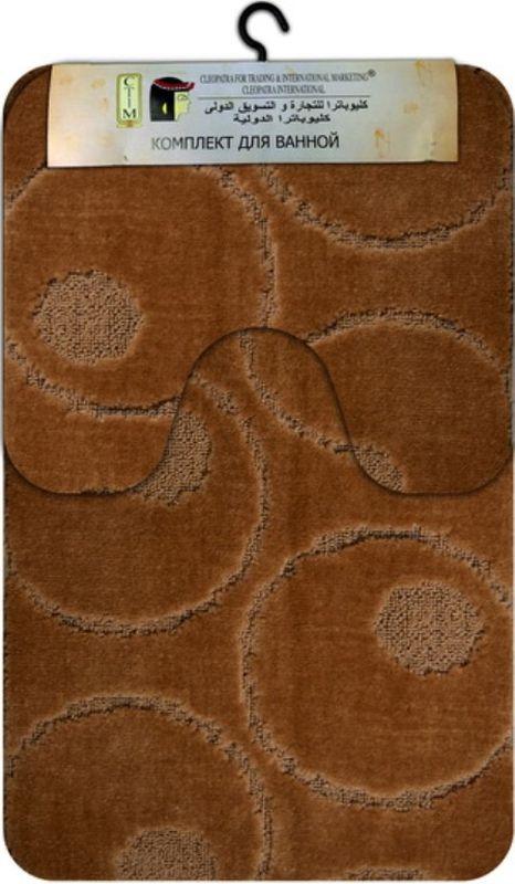 Комплект ковриков для ванной МАС Рома. Круги, цвет: светло-коричневый, 2 шт21777Комплект МАС Рома. Круги, состоящий из коврика с вырезом под унитаз и коврика для ванной комнаты станет незаменимым аксессуаром для вашего дома. Коврики выполнены из высококачественных материалов.Мягкие, приятные на ощупь коврики легко стираются и чистятся. Комплект МАС Рома. Круги подарит ощущение тепла и комфорта, а также привнесет уют в вашу ванную комнату.