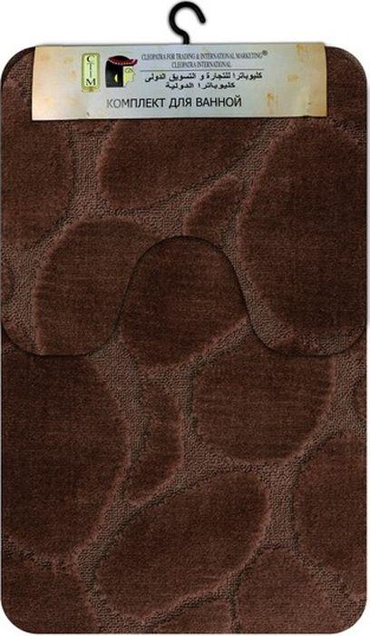 Комплект ковриков для ванной МАС Рома. Камни, цвет: коричневый, 2 шт. 2184421844Комплект МАС Рома. Камни, состоящий из коврика с вырезом под унитаз и коврика для ванной комнаты, станет незаменимым аксессуаром для вашего дома. Коврики выполнены из высококачественных материалов.Мягкие, приятные на ощупь коврики легко стираются и чистятся. Комплект МАС Рома. Камни подарит ощущение тепла и комфорта, а также привнесет уют в вашу ванную комнату.Размер ковриков: 60 х 100 см, 60 х 50 см.