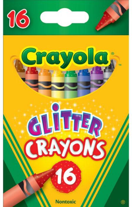 Crayola Набор восковых мелков с блестками 16 шт -  Мелки и пастель
