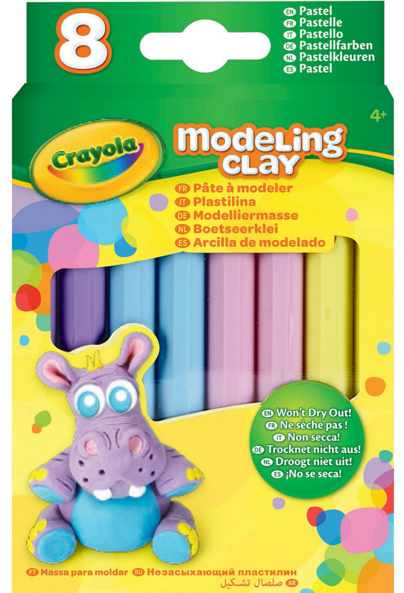 Crayola Пластилин Пастель 8 цветов -  Пластилин