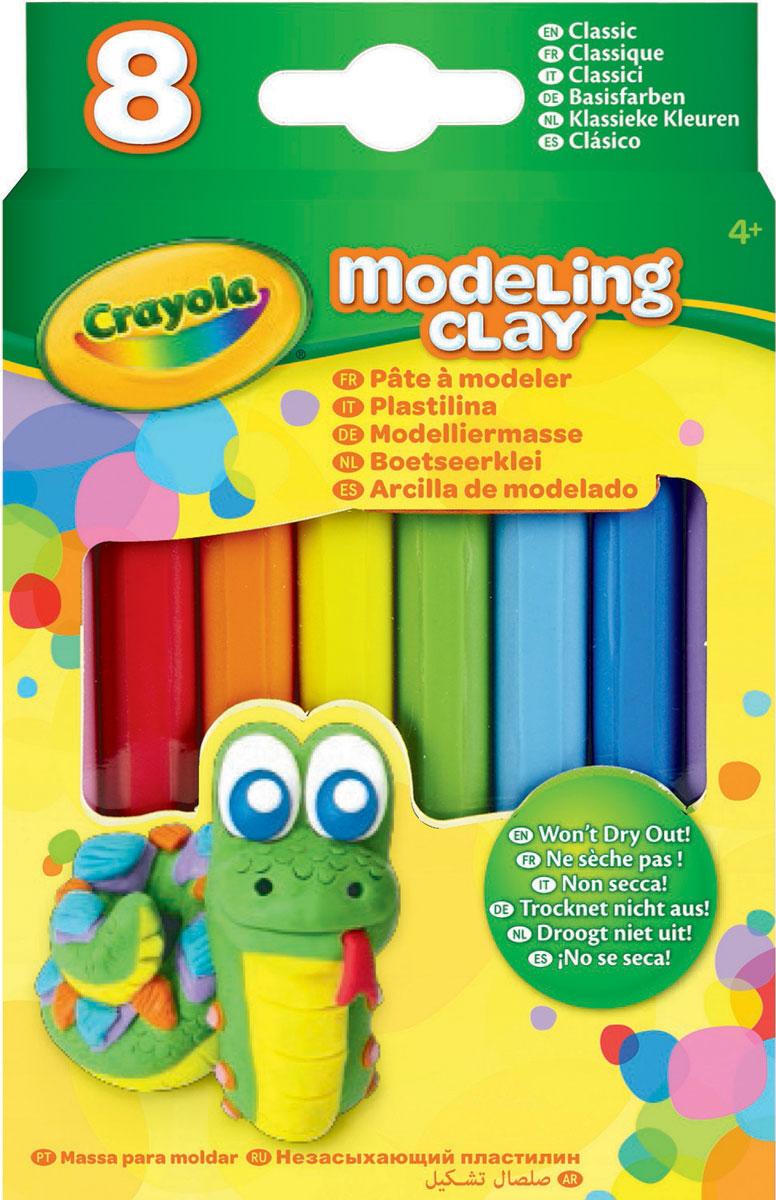 Crayola Пластилин Классика 8 цветов57-0312NПредставляем вам новый набор незасыхающего пластилина от известного американского бренда Crayola. Всего в наборе 8 кусков пластилина классических цветов.Лепка из пластилина поможет ребенку развить воображение и мелкую моторику рук. Кроме того ребенок начнет лучше воспринимать форму, фактуру и цвета предметов.Продукция бренда Crayola изготавливается из безопасных и нетоксичных материалов. Пластилин не сможет навредить здоровью вашего ребенка, поэтому он идеально подойдут для юных начинающих скульпторов. Пластилин рекомендован для детей в возрасте от 4 лет.