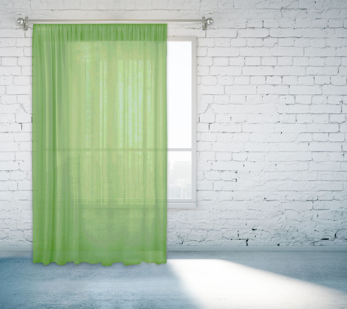 Тюль Zlata Korunka, на ленте, цвет: зеленый, высота 260 см. 55670-1255670-12Тюль Zlata Korunka изготовлен из 100% полиэстера и великолепно украсит любое окно. Воздушная ткань и приятная, приглушенная гаммапривлекут к себе внимание иорганично впишутся в интерьер помещения.Полиэстер - вид ткани, состоящий из полиэфирных волокон. Ткани из полиэстера -легкие, прочные и износостойкие. Такие изделия не требуют специального ухода, непылятся и почти не мнутся. Крепление к карнизу осуществляется с использованием тесьмы.Такой тюль идеально оформит интерьер любого помещения.
