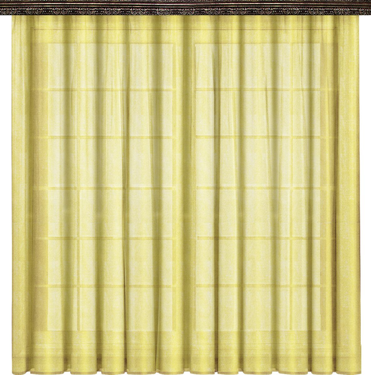 Тюль Zlata Korunka, на ленте, цвет: желтый, высота 270 см. 777026777026Тюль Zlata Korunka изготовлен из 100% полиэстера и великолепно украсит любое окно. Воздушная ткань органза и приятная цветовая гамма привлекут к себе внимание и органично впишутся в интерьер помещения. Полиэстер - вид ткани, состоящий из полиэфирных волокон. Ткани из полиэстера - легкие, прочные и износостойкие. Такие изделия не требуют специального ухода, не пылятся и почти не мнутся.Крепление к карнизу осуществляется с использованием тесьмы. Такой тюль идеально оформит интерьер любого помещения.