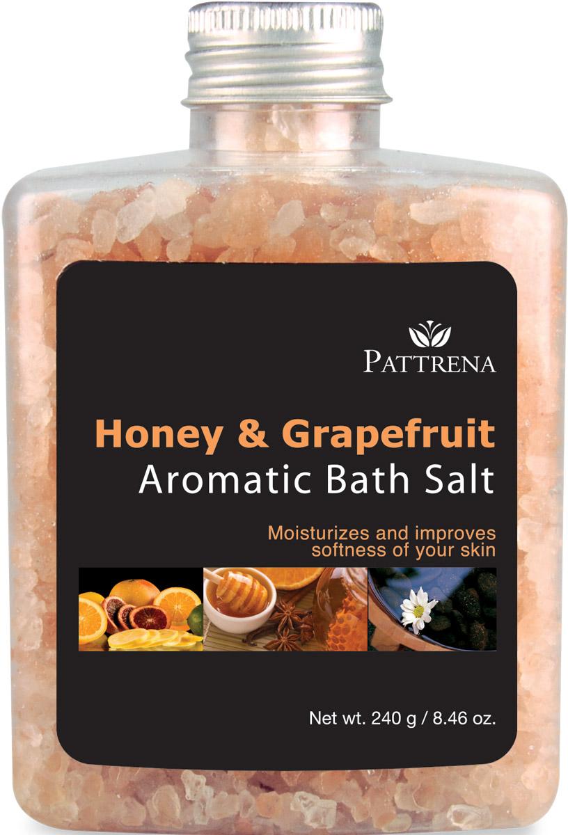 Pattrena Соль для ванны ароматная Мёд и Грейпфрут, 240 г63139Соль для ванны Pattrena с натуральными питательными ингредиентами – экстракт плодов Грейпфрута, мед. Мягко очищает кожу, одновременно питая ее, сохраняя влагу, делая мягкой и эластичной. Обладает утонченным теплым ароматом сочетания Меда и Грейпфрута, придает ощущение свежести и расслабленности.