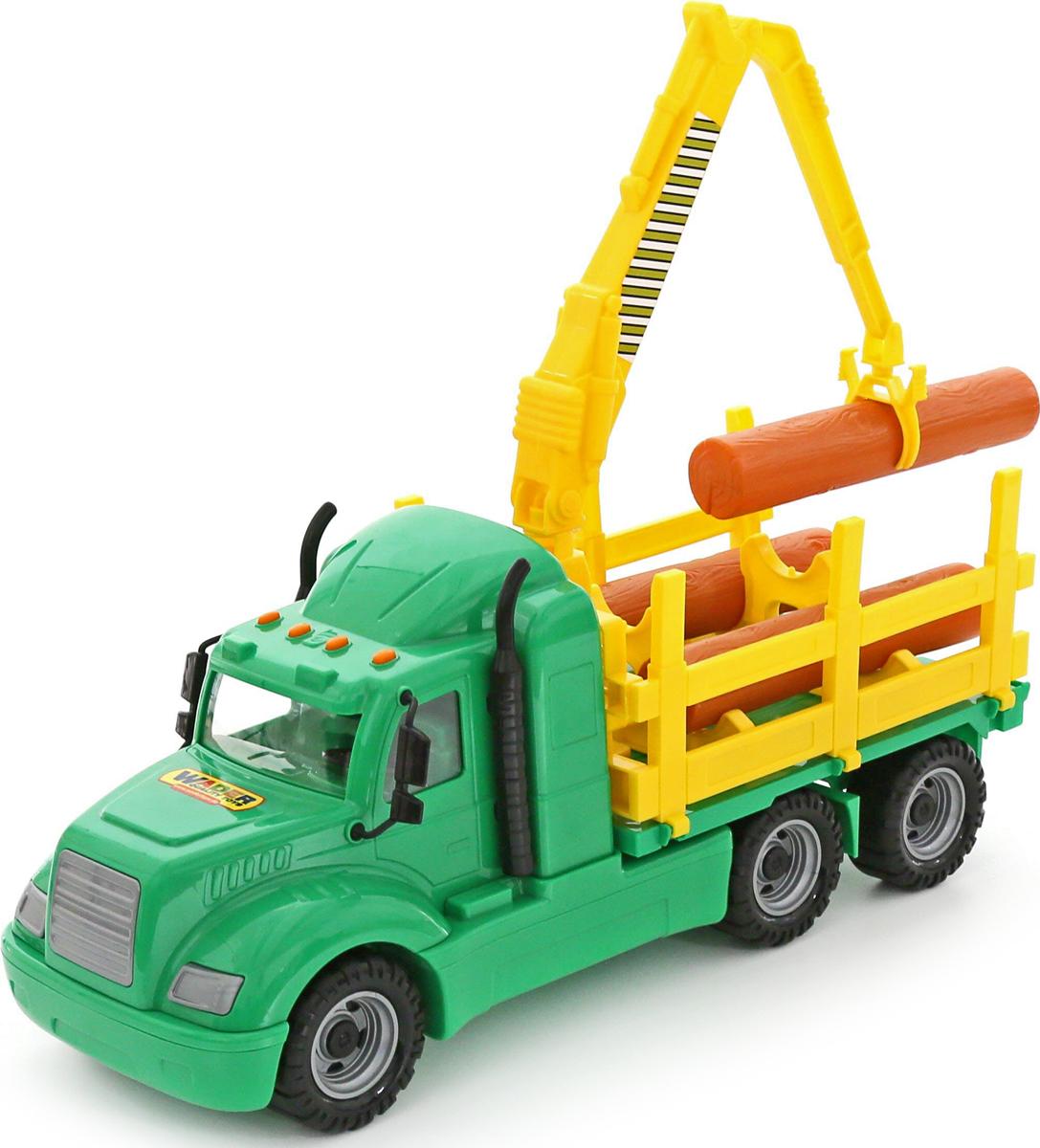 Полесье Лесовоз Майк цвет зеленый желтый автомобиль пожарный полесье майк в коробке 61973