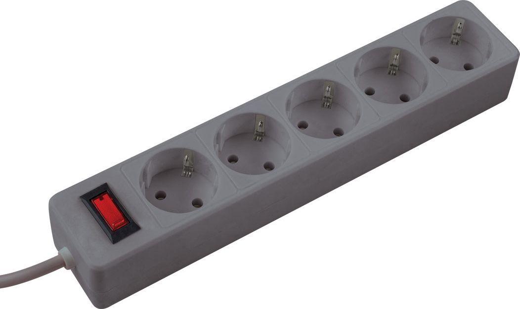 Сетевой фильтр Космос, 5 гнезд, 5 м, цвет: серыйFKsm5m-5g(G)Сетевой фильтр Космос на 5 гнезд, длина провода - 5 м. Белый цвет.Защищает устройства от выхода из строя из-за некачественного тока:защита от перегрузок и замыканий многоразовой автоматикойзащита от импульсных помех, часто встречающихся в бытовой электросетиЛучше всего подходит для подключения чувствительной электроники: компьютеров, телевизоров, стереосистем и др. Максимальная мощность – 2200Вт, что достаточно для одновременного подключения 2 ноутбуков, телевизора, игровой приставки, и любого мощного устройства100% медный 3-х жильный кабель с сечением 0,75мм, пожаробезопасный корпусИндикатор сети. Номинальный ток 10А