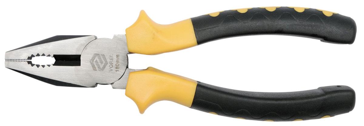 Плоскогубцы универсальные Vorel, 20 см40043Прямые плоскогубцы применяются для захвата и скручивания металлических деталей, проволоки и .т. д. Инструмент очень удобен в работе, поскольку не натирает руку и не выскальзывает.
