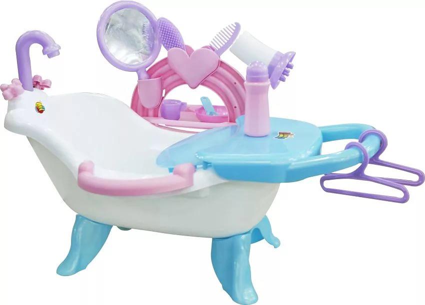Полесье Набор для купания кукол №2 с аксессуарами b dot набор игрушечных принадлежностей для уборки