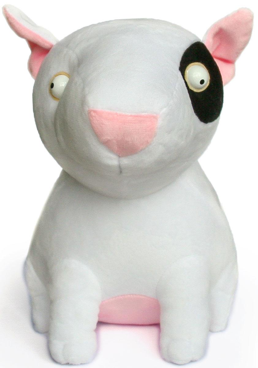 Малышарики Мягкая игрушка Собака Бультерьер 28 см малышарики мягкая игрушка барашек 20 см