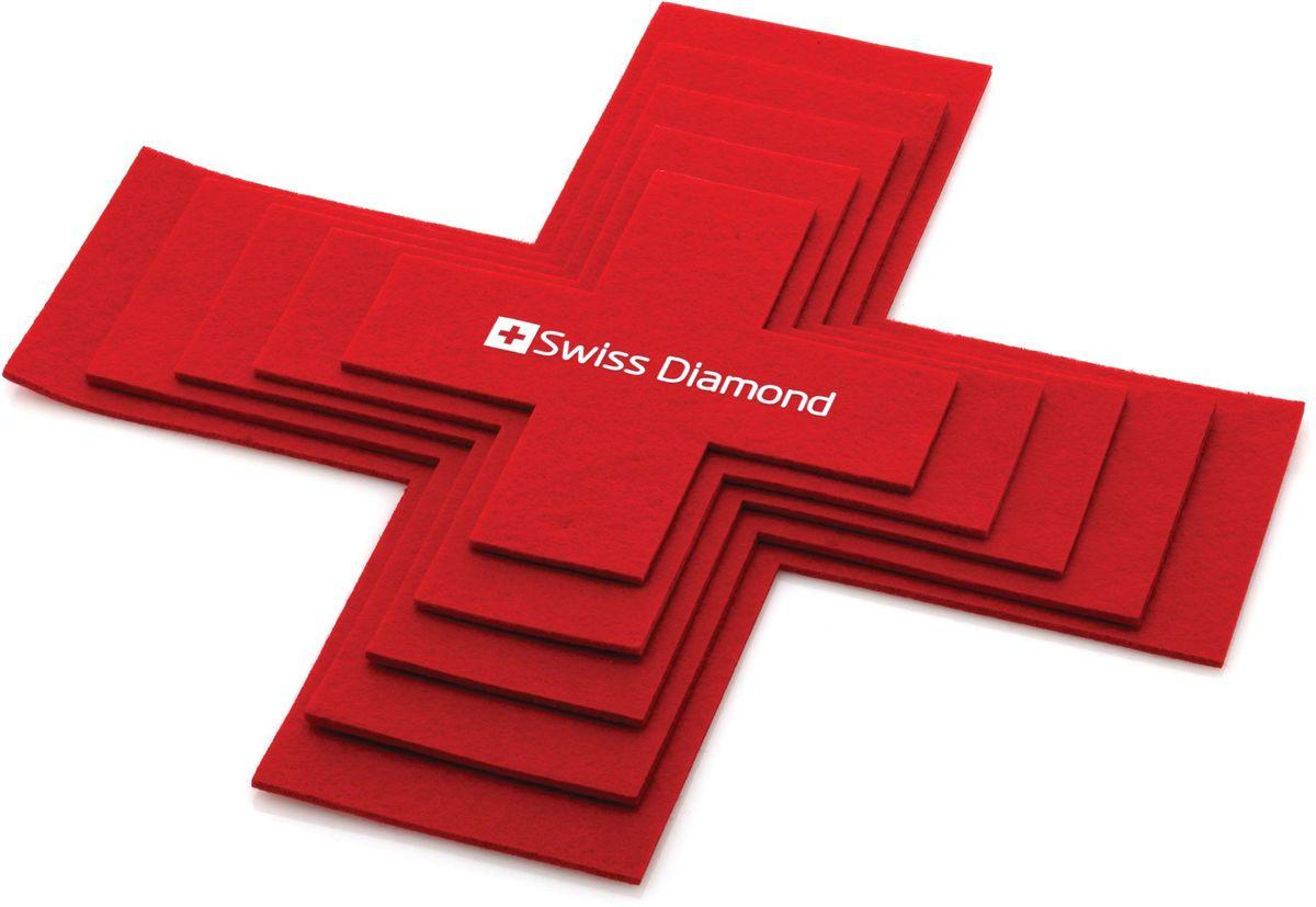 Набор защитных протекторов для кастрюль Swiss Diamond, 5 штSDA08Набор Swiss Diamond, выполненный из синтетической ткани, состоит из 5 защитных протекторов для кастрюль. Они обеспечивают превосходную защиту для кастрюль разных форм и размеров. Они помещаются между посудой для защиты от царапин в процессе хранения. Разработаны в форме швейцарского креста. Рекомендуется ручная стирка. Комплектация: 5 протекторов ( 7, 9, 11, 13, 15).
