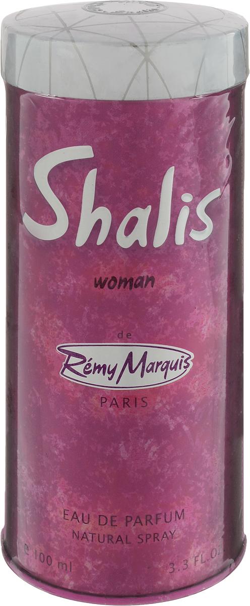 Remi Marquis Парфюмерная вода для женщин Shalis woman, 100 мл3700082500371Яркая красота фруктовых ароматов в ореоле розы, магнолии и цикламена мягко обрамлена благородными ароматами мускуса и пачули. Французский аромат Remy Shalis создан для неповторимой, изысканной женщины. Основные ноты: амбра, магнолия, мускус, лаванда.