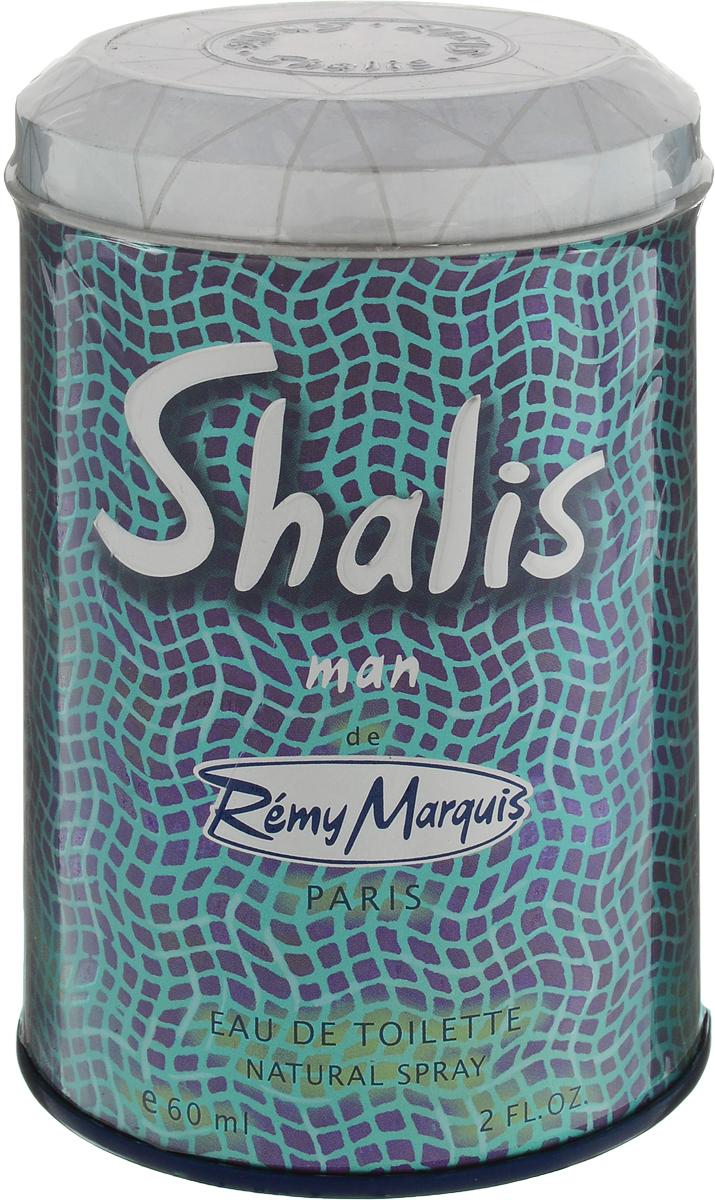 Remi Marquis Туалетная вода для мужчин Shalis man, 60 мл3700082500418Энергичный, мужественный аромат, сотканный из множества оттенков грейпфрута, мандарина, яблока, лаванды и базилика, которые сопровождают насыщенные ноты мускатного ореха, дубового мха и сандалового дерева. Для мужчин, которые умеют сочетать модные тенденции и собственный стиль.