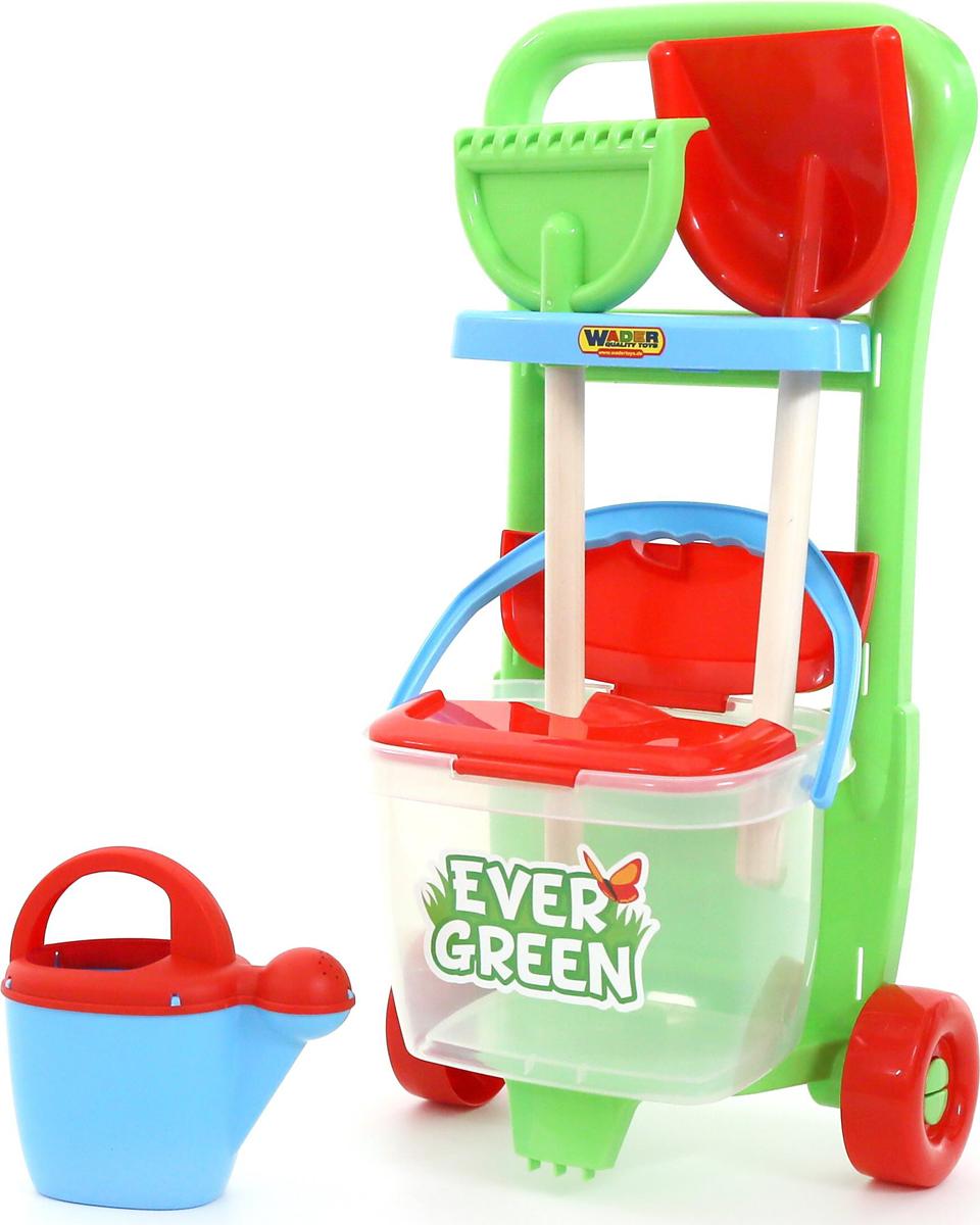 Полесье Набор игрушек для песочницы №395 Ever Green полесье набор игрушек для песочницы тачка садовод с лопатой и граблями цвет желтый