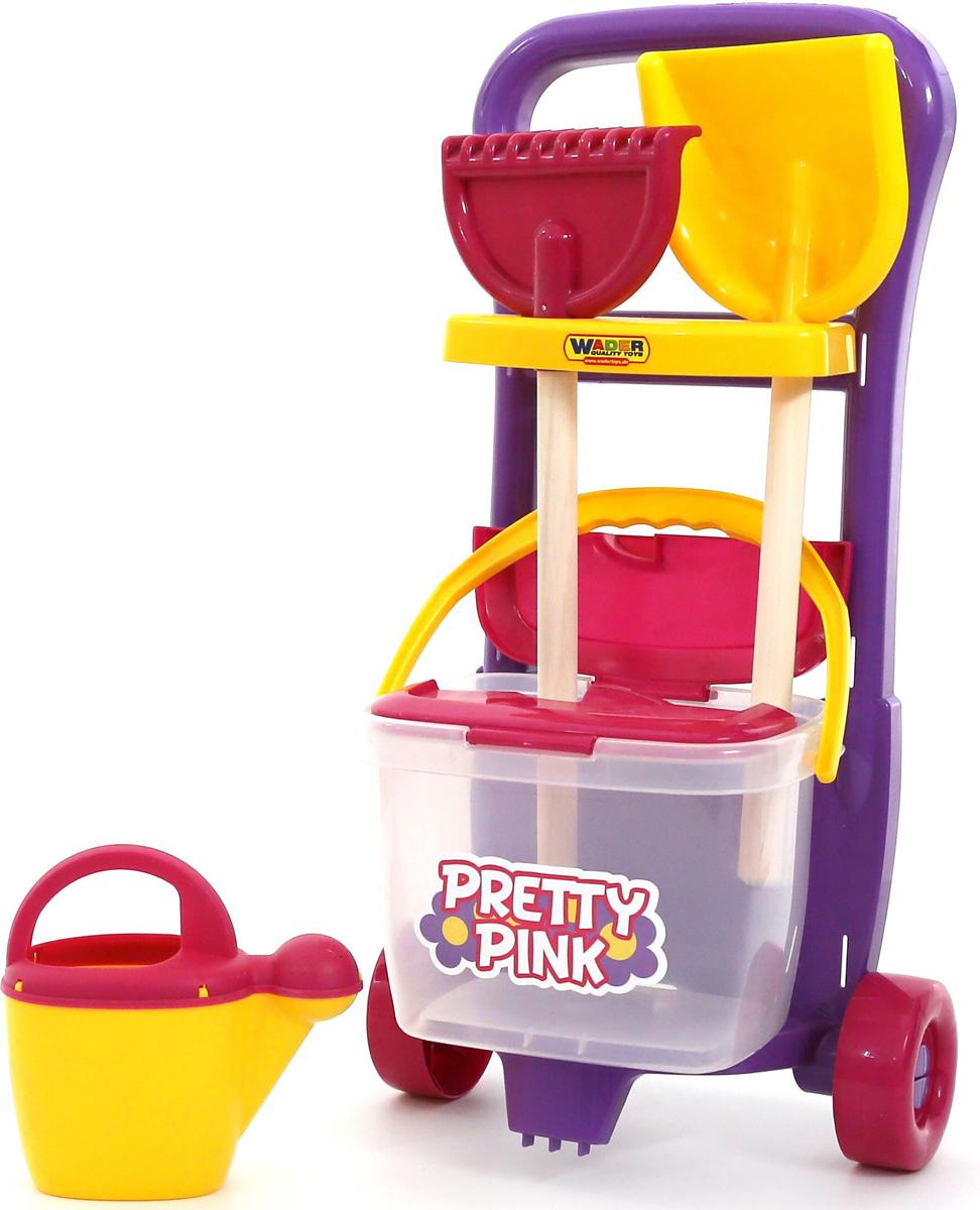 Полесье Набор игрушек для песочницы №396 Pretty Pink полесье набор игрушек для песочницы тачка садовод с лопатой и граблями цвет желтый