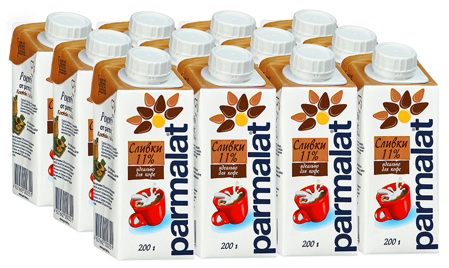Parmalat сливки ультрастерилизованные 11%, 12 шт по 0,2 л жидкость сливки benefit 24g