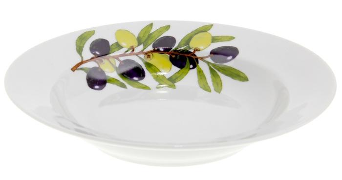 Тарелка глубокая Дулевский Фарфор Оливки, диаметр 20 см068792Глубокая тарелка подходит для сервировки стола и подачи первых блюд. Изделие выполнено из фарфора в соответствии с ГОСТ, что говорит о высоком качестве.Тарелку можно мыть в посудомоечной машине.