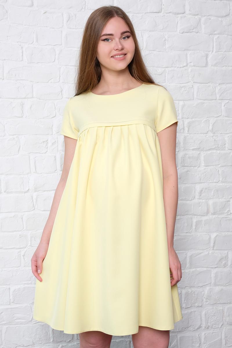 Платье для беременных и кормящих Hunny Mammy, цвет: желтый. 3-НМ 36812. Размер 463-НМ 36812Универсальное платье от Hunny Mammy для молодых мамочек с округым вырезом горловины и коротким рукавом. Благодаря модному крою вы будете прекрасно выглядеть на любом сроке беременности и в период грудного вскармливания малыша. Секрет для кормления на молнии.