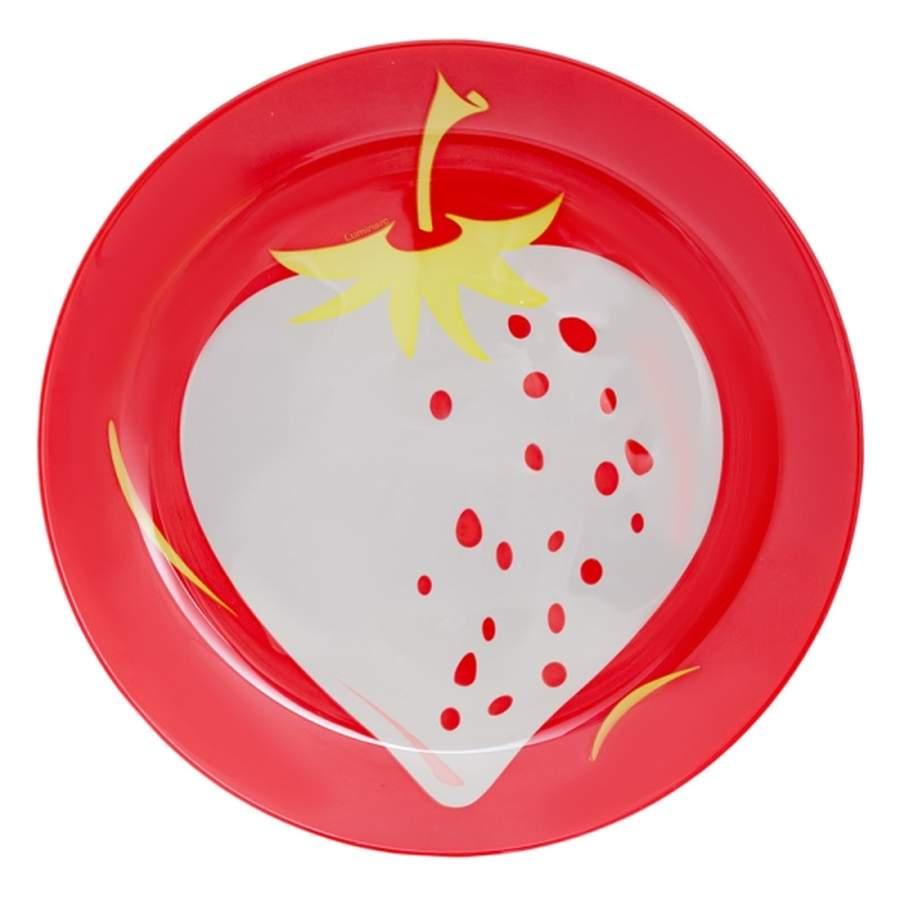 """Тарелка десертная Luminarc """"Fruity Energy. Клубника"""" выполнена из высококачественного стекла.   Бренд """"Luminarc"""" - это один из лидеров мирового рынка по производству посуды и товаров для дома. В основе процесса изготовления лежит высококачественное сырье, а также строгий контроль качества. Товары для дома """"Luminarc"""" уважают и ценят во всем мире, а многие эксперты считают данного производителя эталоном совершенства."""