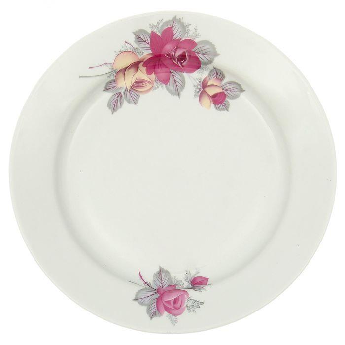 Тарелка мелкая Дулевский Фарфор Дикая роза, диаметр 24 см053932Мелкая тарелка Дикая роза выполнена из высококачественного фарфора и украшена ярким рисунком. Она прекрасно впишется в интерьер вашей кухни и станет достойным дополнением к кухонному инвентарю. Тарелка Дикая роза подчеркнет прекрасный вкус хозяйки и станет отличным подарком.