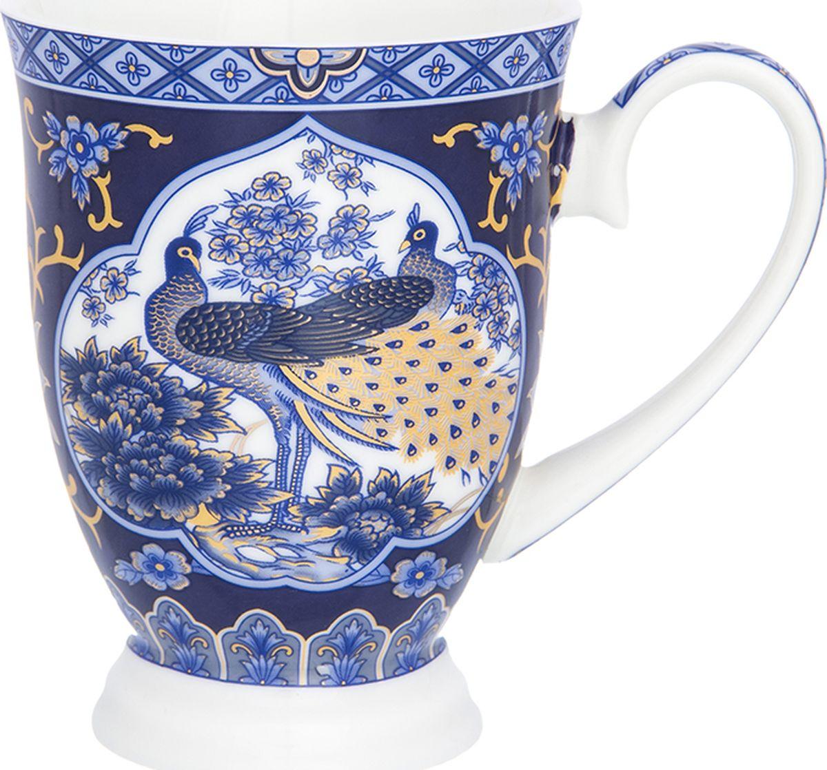 Кружка Elan Gallery Павлин синий, на ножке, 300 мл. 181046