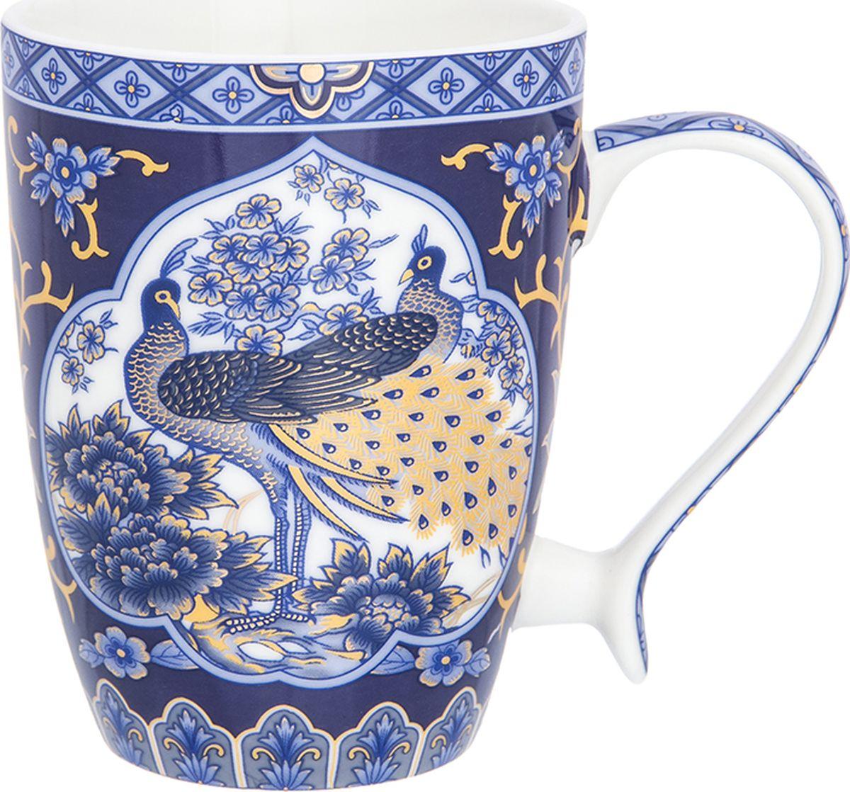 Кружка Elan Gallery Павлин синий, 300 мл. 181052181052Кружка в подарочной упаковке станет прекрасным подарком и послужит верой и правдой в повседневной жизни. Изделие имеет подарочную упаковку, поэтому станет желанным подарком для Ваших близких!