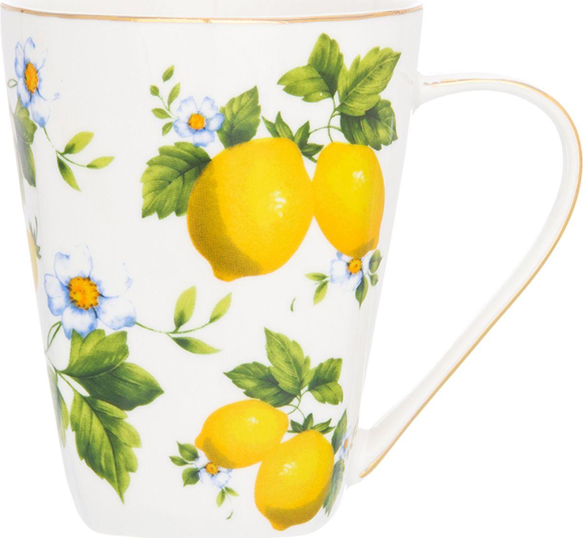 Кружка Elan Gallery Лимон высокая, 420 мл. 502751502751Кружка классической формы объемом 420 мл с удобной ручкой. Подходят для любых горячих и холодных напитков, чая, кофе, какао. Изделие имеет подарочную упаковку, поэтому станет желанным подарком для Ваших близких!