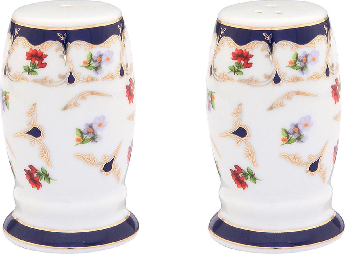 Набор для специй Elan Gallery Цветочек, 2 предмета. 50390725.28.82Великолепный набор Elan Gallery Цветочек состоит из перечницы и солонки, изготовленных изфарфора. Емкости для специй просты в использовании: стоит только перевернуть емкости, и вы с легкостью сможете поперчить или добавить соль по вкусу в любое блюдо. Набор оригинального дизайна и безукоризненного качества станет украшением вашего стола.