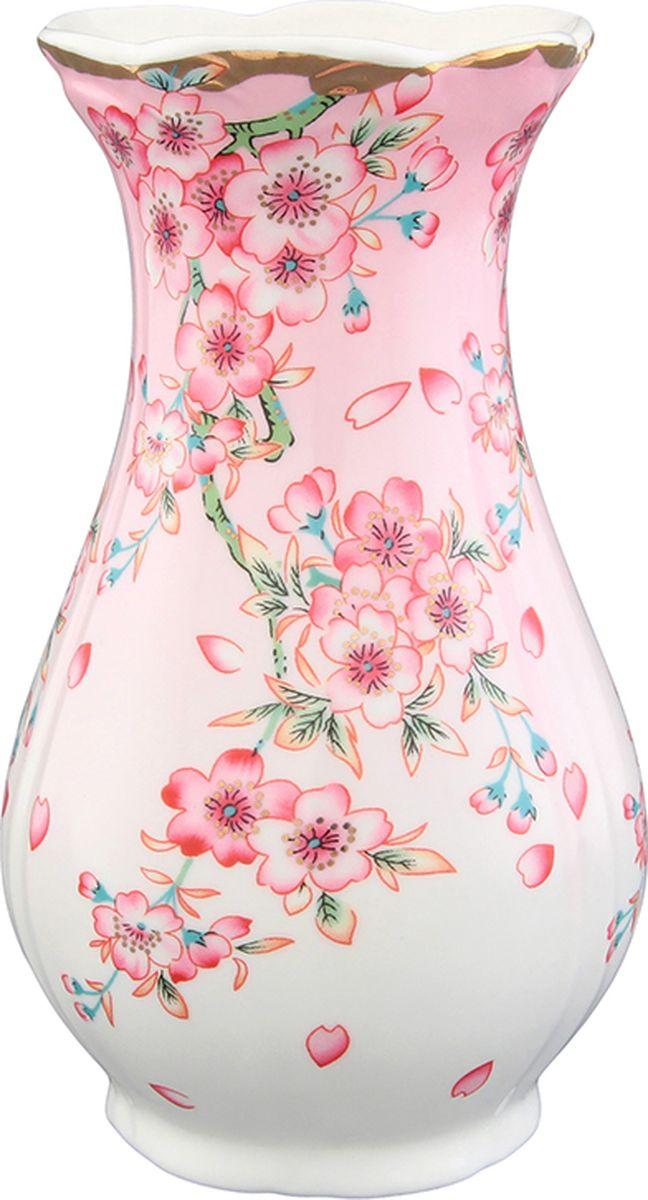 Ваза Elan Gallery Сакура. 503934503934Декоративная ваза украсит Ваш интерьер и будет прекрасным подарком для Ваших близких! Оригинальный дизайн наполнит Ваш дом праздничным настроением. Изделие имеет подарочную упаковку, поэтому станет желанным подарком для Ваших близких!