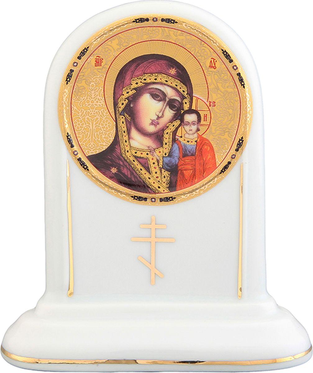 Икона Elan Gallery Казанская божья матерь, с молитвой Богородице Дево, радуйся, 10 х 4,5 х 11,5 см504063Декоративная икона станет необыкновенным подарком для верующих людей.