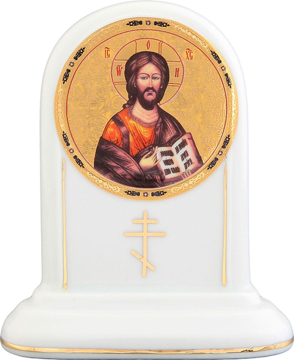 """Икона Elan Gallery """"Иисус Христос"""" станет необыкновенным подарком для верующих людей.  Изделие выполнено из фарфора. На обратной стороне нанесена молитва """"Благословение дома"""".  Икона поможет создать особую атмосферу на праздники."""