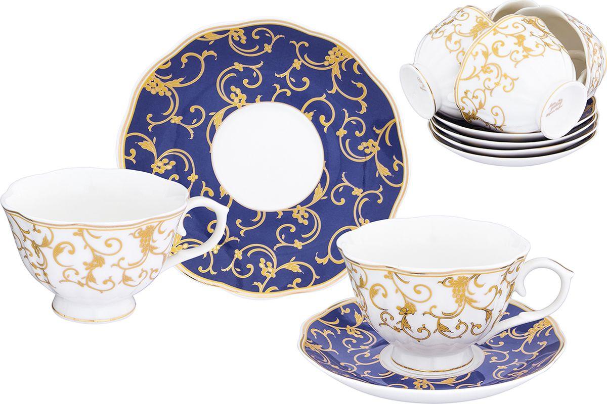 Набор чайный Elan Gallery Королевский узор на синем, 12 предметов. 504105504105Чайный набор Elan Gallery Королевский узор на синем на 6 персон сделает ваше чаепитие незабываемым. Изделия выполнены из фарфора. В комплекте: 6 чашек объемом 250 мл, 6 блюдец.Изделие имеет подарочную упаковку с шелковой подложкой, поэтому станет желанным подарком для ваших близких!